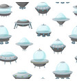 cartoon alien spaceship or ufo ship seamless vector image vector image