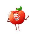 cartoon raw red apple cute character