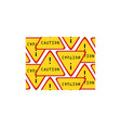 caution sign pattern seamless vector image vector image