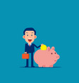 character with piggy bank safe money storage vector image vector image