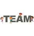 children with team logo vector image vector image