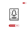 christmas card icon vector image vector image