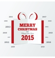 Christmas gift box cut the paper New year 2015 vector image