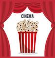 cinema pop corn entertainment icon vector image