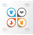 clothes icons set collection of half-hose briefs vector image vector image