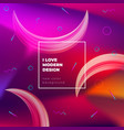color gradient background design abstract fluid vector image vector image