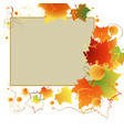 colorful autumn frame vector image vector image