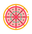 cut pizza icon outline vector image