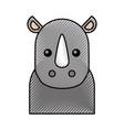 cute cartoon rhino baby animal wild vector image