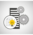 database setting document idea creativity vector image vector image