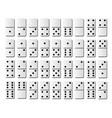 Dominoes or domino tiles white isolated