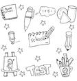 Doodle of school hand draw vector image vector image