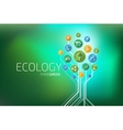 Ecology Infographic Think Green vector image vector image