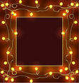 Festive frame with garlands Christmas decorations vector image vector image