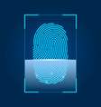 fingerprint scanning concept of security digital vector image vector image