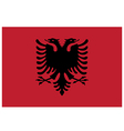 Flag of albania vector image