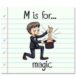 Flashcard letter M is for magic vector image vector image