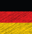 Flat Hand Draw Sketch Flag of German vector image vector image