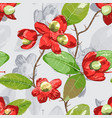 floral element on grey seamless background vector image vector image