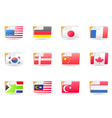 folders icons with world flags vector image