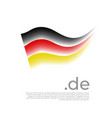german flag stripes in colors flag germany vector image vector image