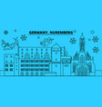 germany nuremberg winter holidays skyline merry vector image vector image