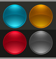 glossy round buttons or glass balls set vector image vector image