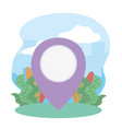 gps navigation pointer tourist vacation travel vector image