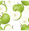 green apples seamless pattern vector image vector image