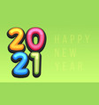 happy new year 2021 cute greeting card vector image vector image