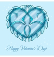 happy valentines day cards with ice heart vector image