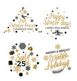 hot winter holiday price sales emblems on white vector image vector image