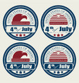 icons holiday usa set vector image