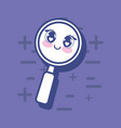 kawaii magnifying glass icon vector image
