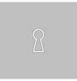 Keyhole computer symbol vector image vector image