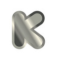 letter k steel font metal alphabet sign iron abc vector image vector image