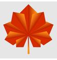 maple origami orange leaf vector image vector image