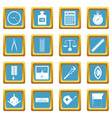 measure precision icons azure vector image vector image