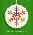 Merry christmas snowflake design in happy colors vector image vector image