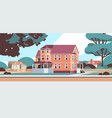 modern houses country cottages buildings exterior vector image