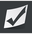 Monochrome tick mark sticker vector image vector image