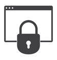 online banking security vector image vector image