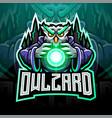 owl wizard esport mascot logo vector image vector image