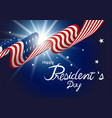 presidents day design american flag with light vector image
