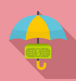 protect money cash icon flat style vector image