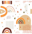 rainbow pattern seamless childish texture with vector image vector image