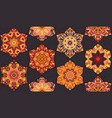 seamless pattern morrocan vitrage ornament floral vector image vector image