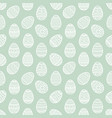 seamless pattern of white easter egg flat vector image
