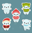 set of christmas characters set of christmas vector image vector image