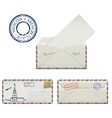 Set of envelopes from Moscow with a painted the vector image vector image